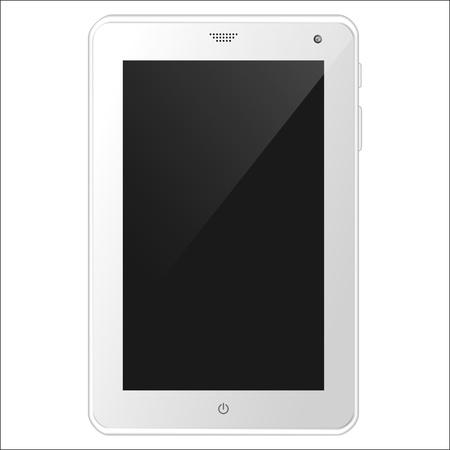 White tablet PC illustration Stock Vector - 19118513