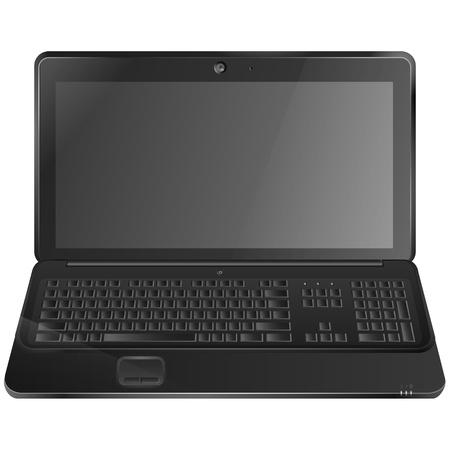Black laptop illustration Stock Vector - 19118593
