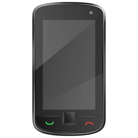 Black mobile phone illustration Stock Vector - 19118549