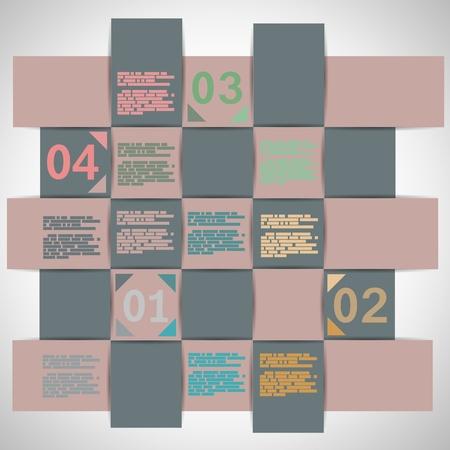 Paper strips for data presentation illustration