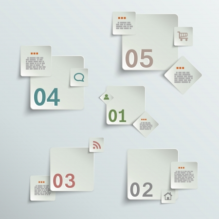 Make your choice - paper stickers eps10 vector illustration Illustration