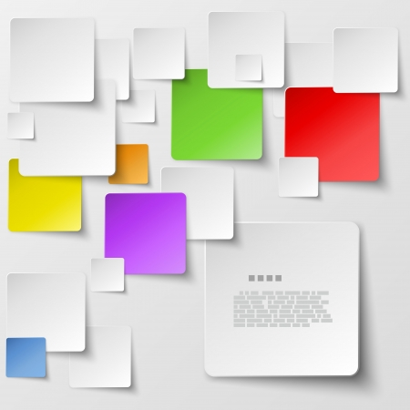 sticky note: Color square tiles abstract background