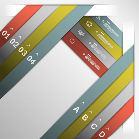 Ribbon option template Vector
