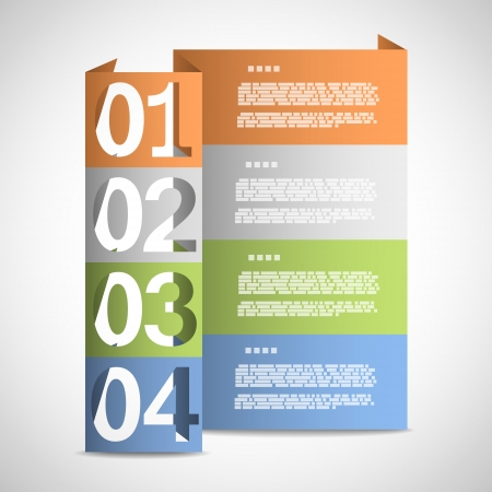 Paper options template Stock Vector - 19897039