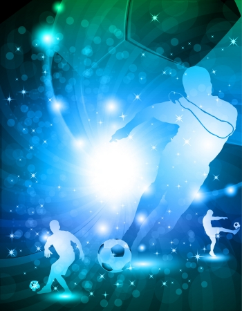 Shiny abstract soccer background  illustration Vector