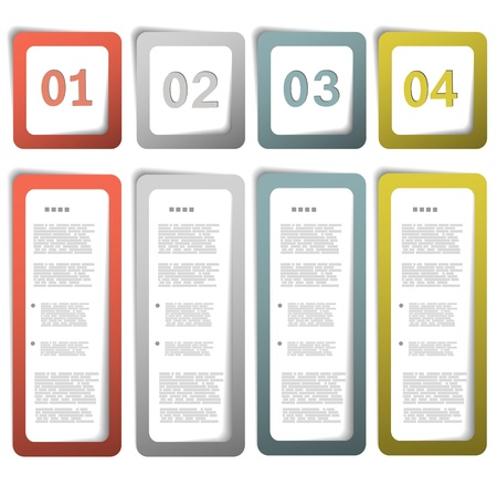 Option paper frames  illustration Vector