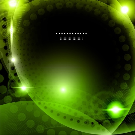Abstract green background illustration Illustration
