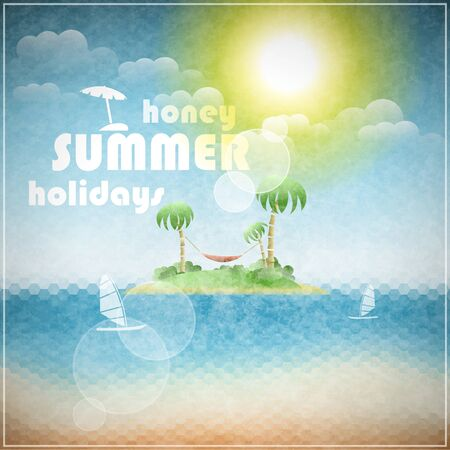 Honey summer holidays  illustration Vector