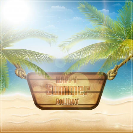Happy summer holiday card  Vector