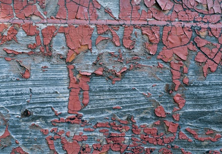 weather beaten: Old Shabby Wooden Planks with cracked color Paint