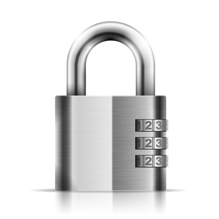 padlock: Steel Closed Isolated Padlock