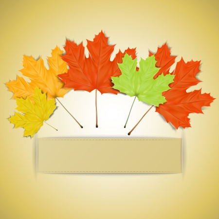 place for text: Colorful autumn leaves with place for your text Illustration