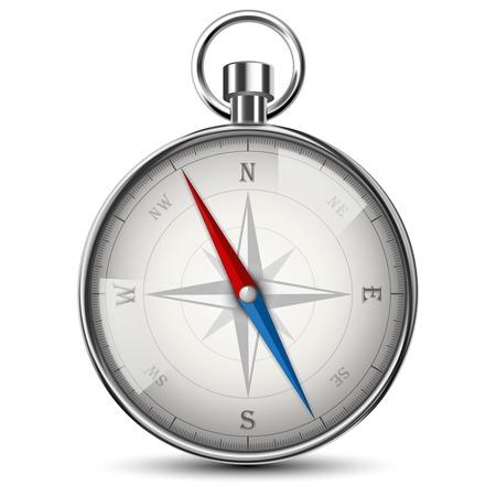 Realistische Kompass isoliert auf weiß. Vektor-Illustration. Standard-Bild - 25471020