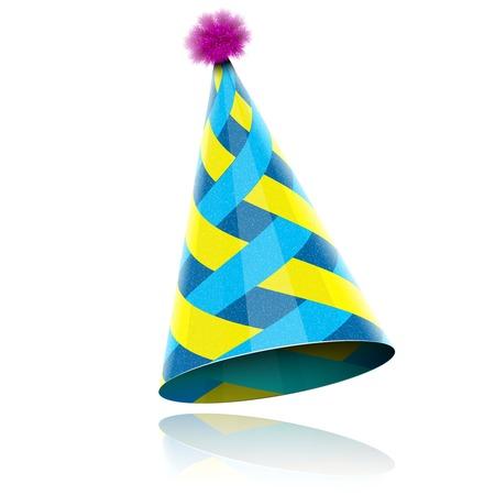 Glossy Cone-achtige Hat Voor Event Celebration. Vector Illustratie. Vector Illustratie
