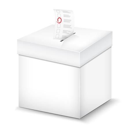 vorschlag: Ballot Box isoliert auf weiß. Vektor-Illustration.