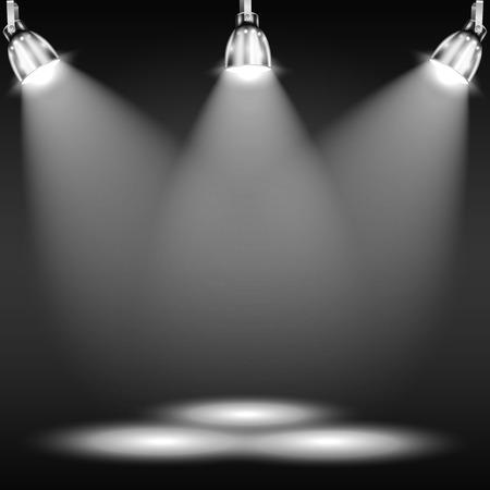 leuchtend: Beleuchtete Stockwerk Dark Room Illustration