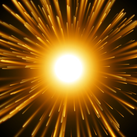 orange inferno: Dazzle Explosion In the Space. Illustration