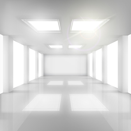 big windows: White Room with Windows in Walls and Ceiling.