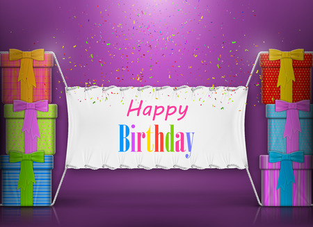 Buon Compleanno Banner disegno astratto. Archivio Fotografico - 38906238