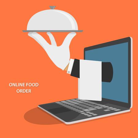 żywności: Dostawa żywności online Koncepcja ilustracji.