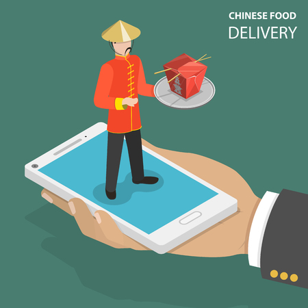 Chinese food online order concept