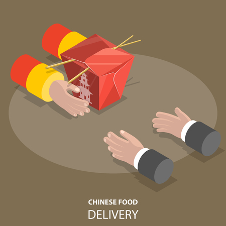 Chinese food fast delivery concept