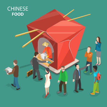 Chinese food concept Vettoriali
