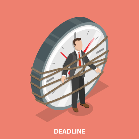 Deadline flat isometric vector concept Stock Photo