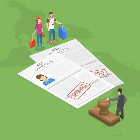 Approved Visa application Stockfoto - 93003615