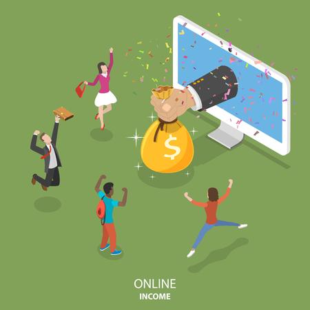 Koncepcja płaski izometryczny wektor dochodu online.