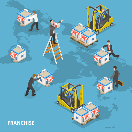 Franchise-concept Stock Illustratie