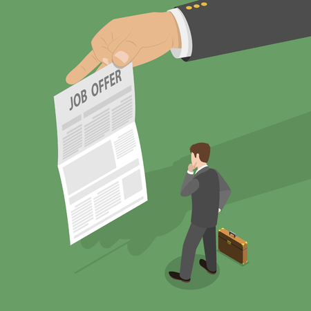 Job offer concept Çizim