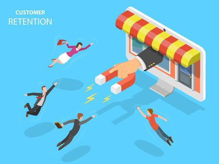 Ilustracja wektorowa zatrzymania klienta sklepu internetowego. Ilustracje wektorowe
