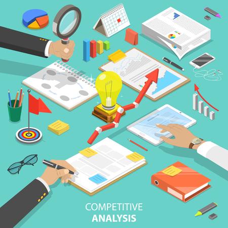 Concept de vecteur isométrique plat analyse concurrentielle