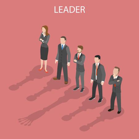 Team leader isometric flat vector conceptual illustration. Illustration