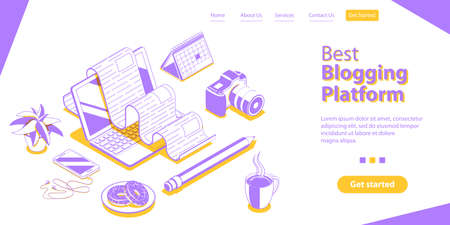 Creative Blogging, Content Marketing Strategy Blog Posting and Copywriting. 일러스트