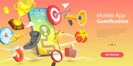 Mobile App Gamification, Interactive Content For Audience Engaging.