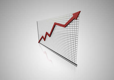 3d graph with arrow Stock Photo - 8219451