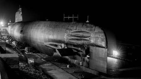 INS kursura is a decommissioned Indian submarine put on display at Visakhapatnam,India Stock Photo