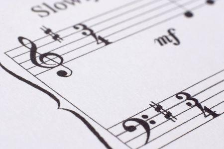partition musique: Close-up de la musique client