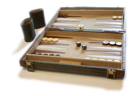 taker: A backgammon board against a white background