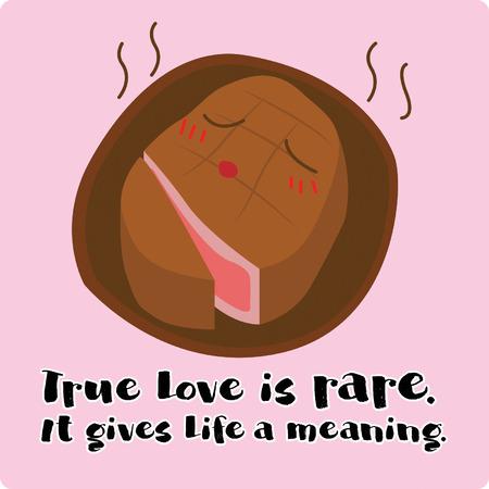 True love is rare Illustration