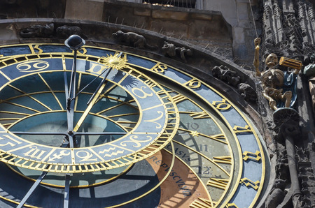 astronomical: Astronomical Clock in Prague, Czech Republic