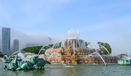 The Buckingham Memorial Fountain, Chicago, Illinois, USA
