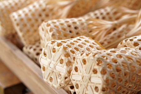 Thai organic bamboo weave basket package design