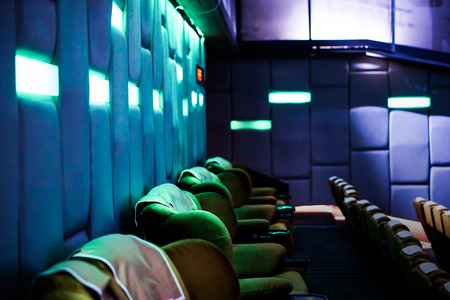 movie theater, cinema seats Imagens