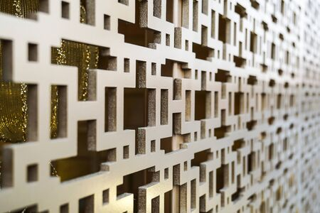interlace pattern design metal texture