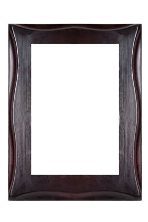 wooden frame isolated on white background photo