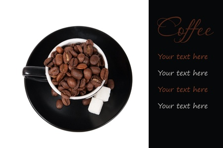 coffee concept with the place for your text on black photo