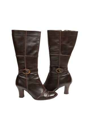 Stylish brown leather women